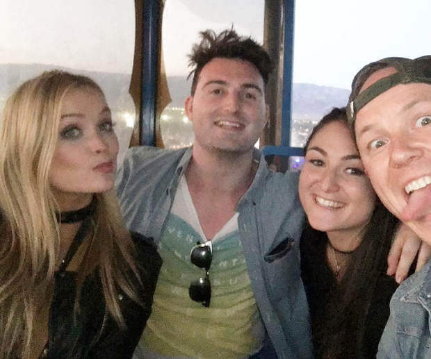 Laura Whitmore poses with friends at Coachella. Photo: Instagram