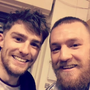 Eanna pictured with Conor McGregor