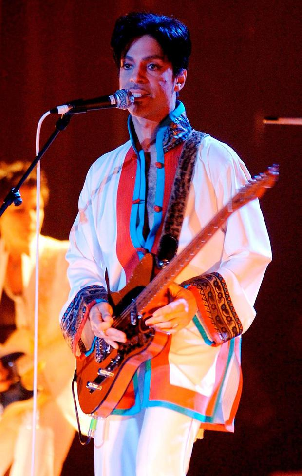 File photo dated 15/02/06 of Prince performing on stage at the Brit Awards, as the singer has died at the age of 57, his publicist said. Yui Mok/PA Wire