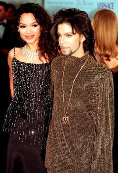 Prince with his first wife Mayte Garcia in 1999. Photo: PA