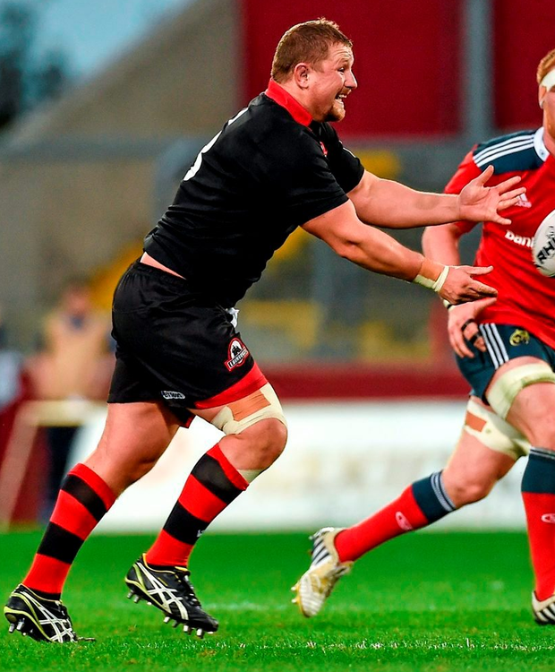 New Munster signing will be able to show his class at Irish Independent Park when John Andress and Edinburgh come to town. Photo: Diarmuid Greene/Sportsfile