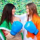 Katie Taylor with her mum Bridget after being unveiled as ambassadors for P&G's 'Thank You Mum' campaign. Photo: Marc O'Sullivan