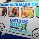Dorothea Findlater, who is 106 years of age, her grand-daughter Zanya Dahl and Zanya's children, two-year-old Zya and one-year-old Lexi, at the launch of Census 2016 Photo: Tom Burke