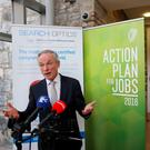Minister for Jobs Enterprise and Skills Richard Bruton TD speaking at the offices of Search Optics. The digital marketing firm will create 100 jobs over the next two years at a new European headquarters in Dublin. Photo: Sam Boal/Rollingnews.ie