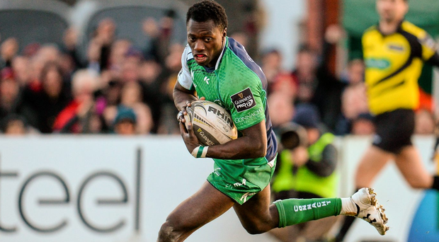 Connacht's Niyi Adeolokun has praised fans for their part in the provinces's success this season. Photo: Seb Daly/Sportsfile