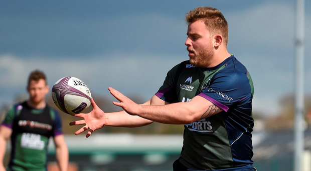 Connacht's Finlay Bealham in action during squad training. Sportsground, Galway. Photo: Paul Mohan/Sportsfile