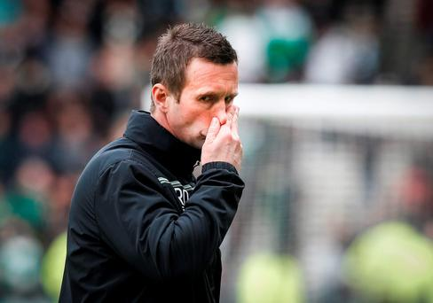 Out-going Celtic Manager Ronny Deila. Photo: Danny Lawson/PA
