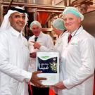 Ornua CEO Kevin Lane and Saeed Bajwaber, chairman of Al Wazeen Trading, at the opening of Ornua cheese manufacturing facility in Riyadh last month