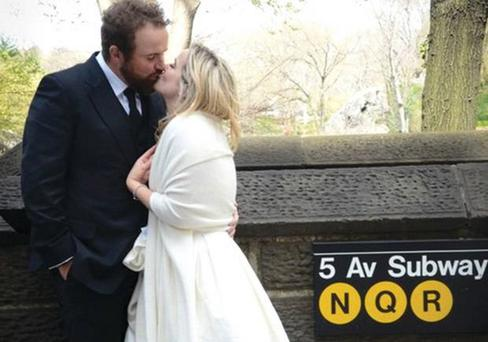 Shane Lowry wed Wendy Honner in New York. Picture: @ShaneLowryGolf