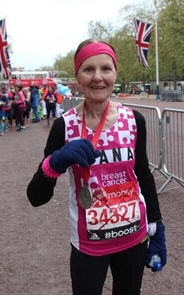Diana ran her first marathon in 2003, at the age of 69