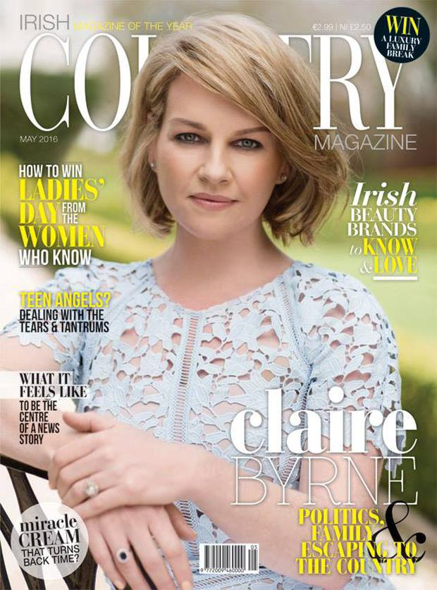 Claire Byrne covers the May issue of Irish Country Magazine