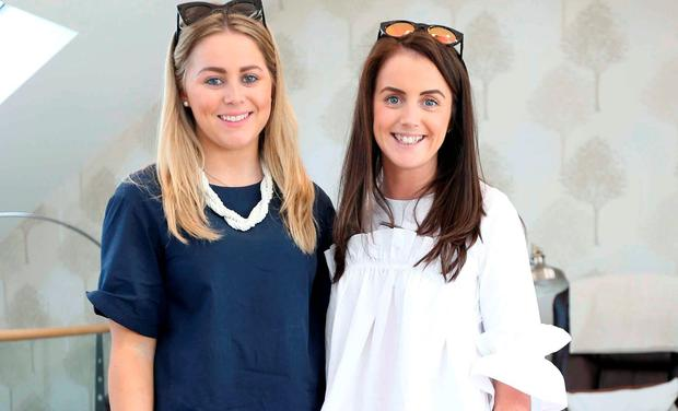 Keva Doyle and Tara Doyle at the launch of the Essie Bridal Collection at the Serenity Day Spa. Picture: Sasko Lazarov/Photocal Ireland