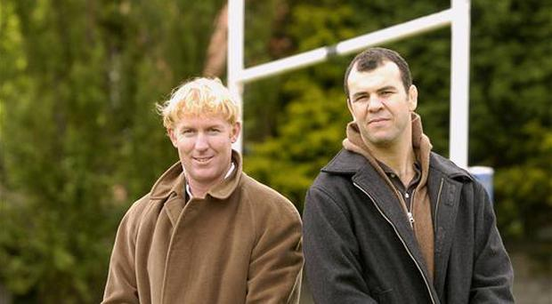 David Knox (left) and Michael Cheika; Sportsfile