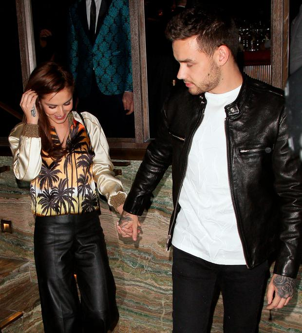 Cheryl Fernandez-Versini and Liam Payne at Sexy Fish restaurant on April 12, 2016 in London, England. (Photo by Mark Robert Milan/GC Images)