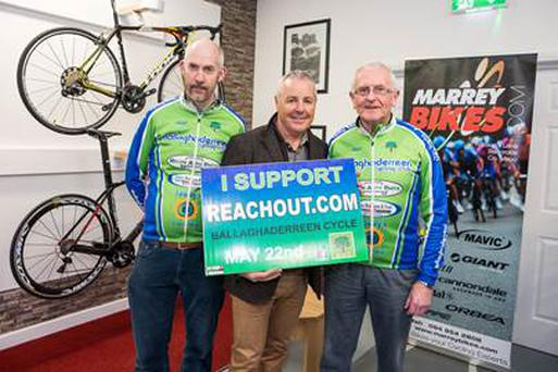 Ballaghaderreen Cycle Club will take to the roads on May 22 and cycle 10km, 50km, or 100km in aid of ReachOut.ie