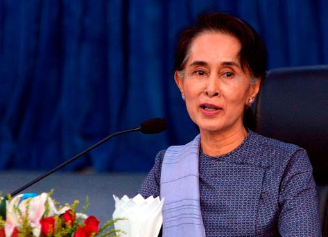 Aung San Suu Kyi (AP Photo/Aung Shine Oo)
