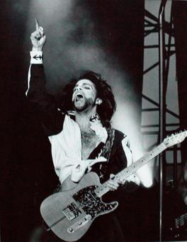 Prince plays Páirc Uí Chaoimh in Cork in July 1990. Photo: Tony Gavin