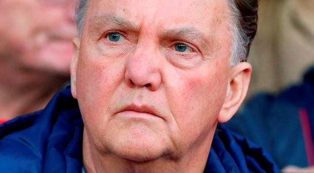 For a time Louis van Gaal believed he had the supporters with him Photo: Martin Rickett/PA Wire