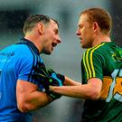 Philly McMahon and Colm Cooper in conversation at the end of last year's All-Ireland final. Photo: Piaras Ó Mídheach / Sportsfile