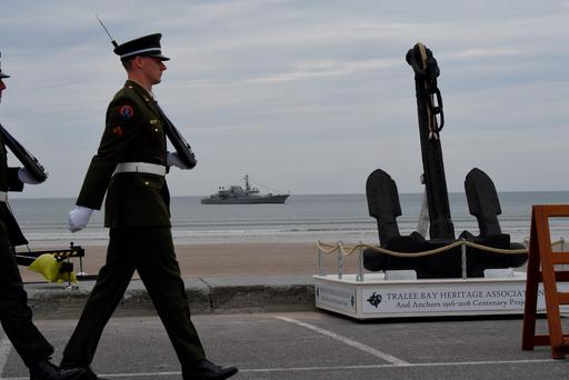 The commemoration held at Banna Strand, Co Kerry, to mark the centenary of the capture of Roger Casement. Photo: Domnick Walsh