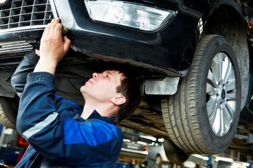 Testing time: The inspection is thorough and every aspect of the vehicle is examined