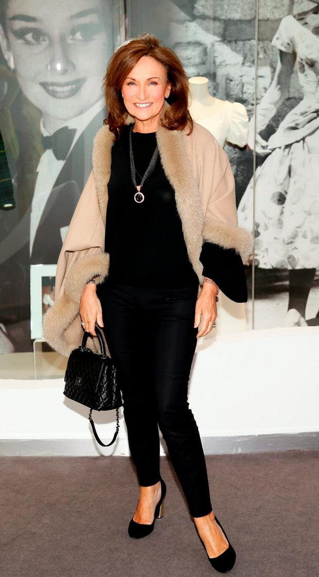 Celia Holman Lee at the exclusive launch of 'Audrey' a new exhibition at the Newbridge Silverware Museum of Style Icons