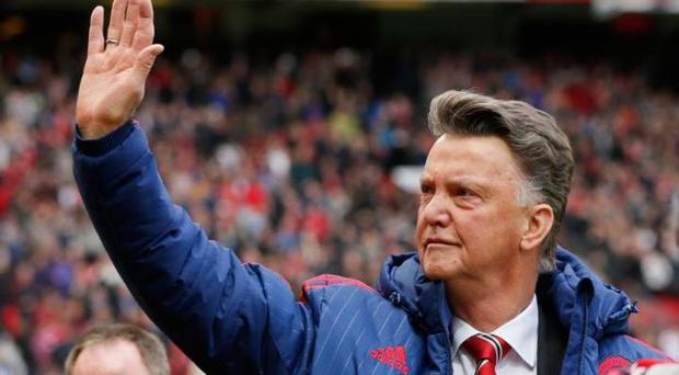 Manchester United manger Louis Van Gaal says he is staying at Old Trafford