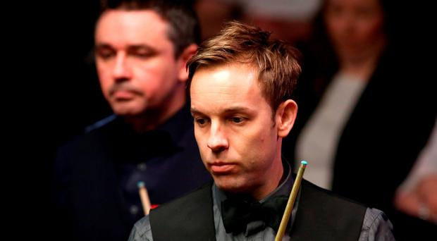 Ali Carter during his match against Alan McManus during day eight of the Betfred Snooker World Championships at the Crucible