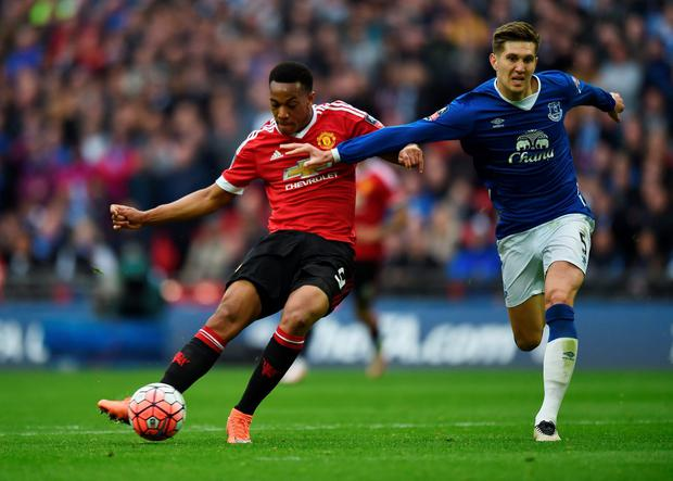 Manchester United's Anthony Martial scores their second goal Action Images via Reuters / Tony O'Brien