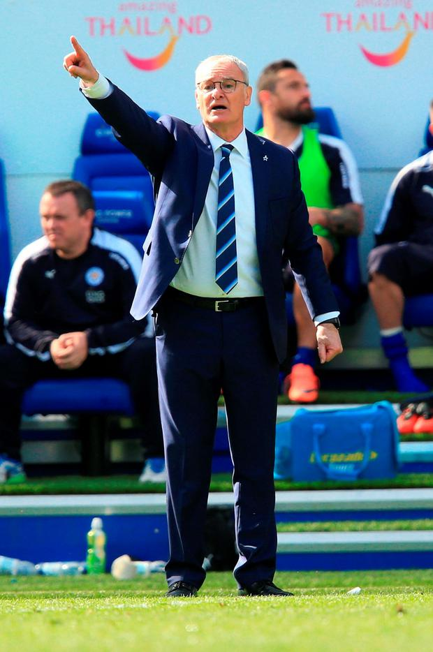 Leicester City manager Claudio Ranieri . Photo: Mike Egerton/PA