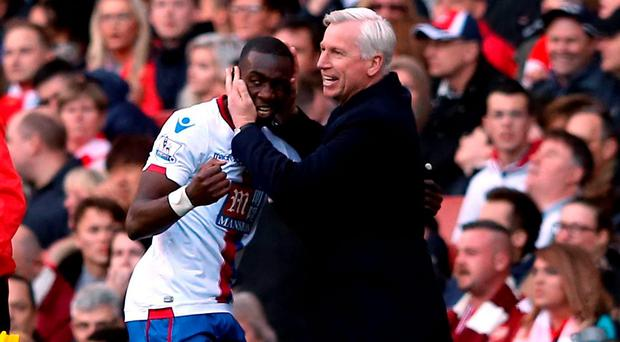 Crystal Palace's Yannick Bolasie will be available for manager Alan Pardew in today's match after being passed fit. Photo: Adam Davy/PA