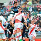Gareth Bale scores against Rayo Vallecano yesterday. Photo: Denis Doyle