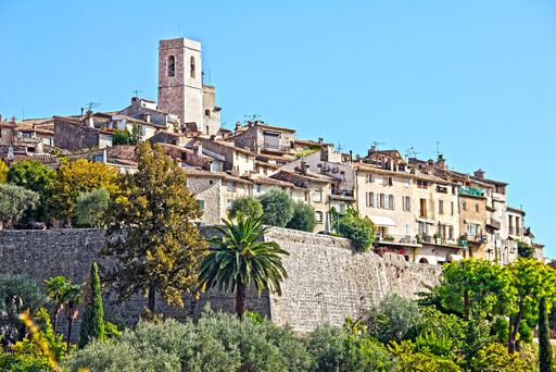 The famous village of Saint Paul de Vence, France