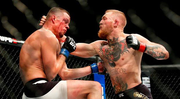 McGregor and Diaz in action