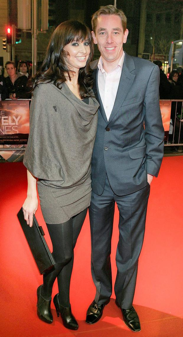 Ryan Tubridy with his former girlfriend Aoibhinn Ni Shuilleabhain. Photo: Brian McEvoy