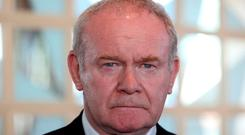 Mythology: Northern Ireland Deputy First Minister Martin McGuinness at this weekend's SF Ard Fheis in Dublin. Photograph:Sam Boal / RollingNews.ie