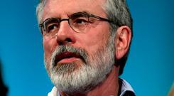 ARD FHEIS: Gerry Adams targeted the FF leader in his speech. Photo: Reuters