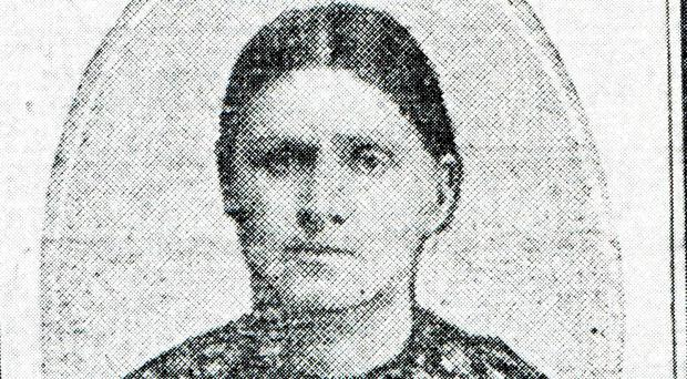 Rosanna Heffernan, who died on 27 April 1916, two days after being hit during crossfire between the Volunteers in the South Dublin Union (now James's Hospital) and British soldiers (The Royal Irish Regiment)