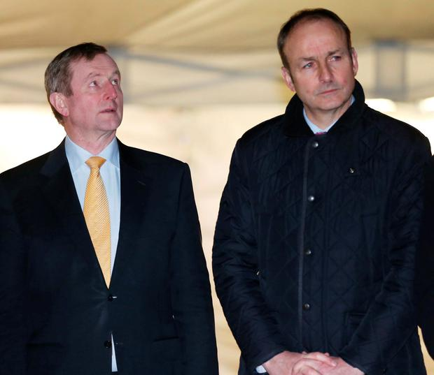 Party leaders Enda Kenny and Micheal Martin Photo: RollingNews.ie