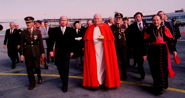 The visit of Pope John Paul II