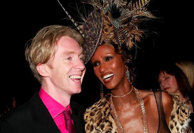 Philip Treacy and Iman