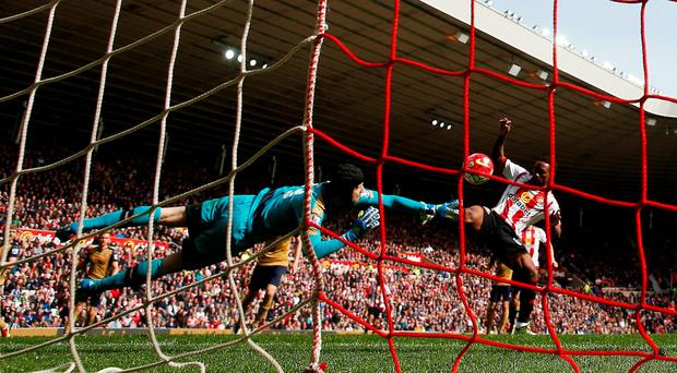 Arsenal's Petr Cech saves from Sunderland's Jermain Defoe Action Images via Reuters / Lee Smith
