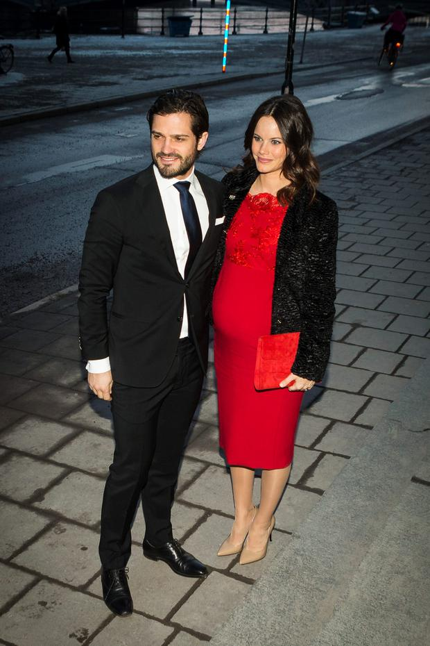 Prince Carl Philip and Princess Sofia arrive at formal gathering at the Royal Swedish Academy of Fine Arts on February 19, 2016 in Stockholm, Sweden. (Photo by Michael Campanella/Getty Images)