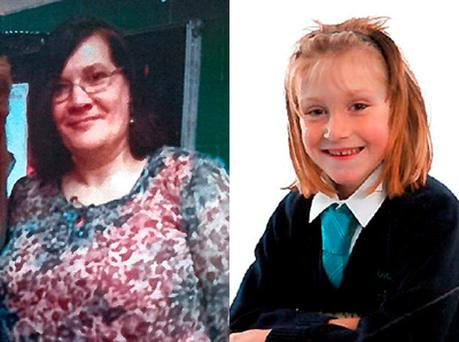 Rosemary Gregg, 48, and her six-year-old daughter Orlaith