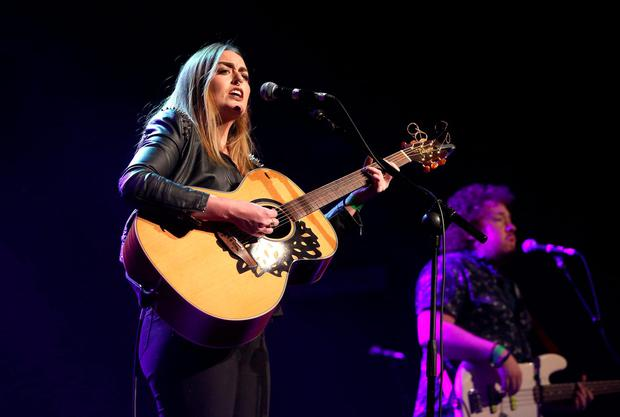 Roisin O performs at the Rock against Homelessness concert at the Olympia Theatre. Credit: Damien Eagers