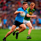 Dublin's Ciarán Kilkenny in action against Fionn Fitzgerald during their victory over Kerry in the Allianz NFL Division 1 final Photo: Ray McManus / Sportsfile