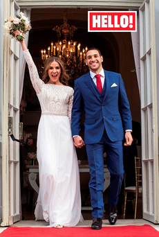 Irish TV presenter Amanda Byram and Julian Okines. Photo: Hello! Magazine/PA Wire