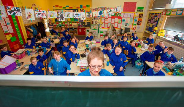Teacher Catherine Murphy, who has 34 pupils in her class at St Mary's senior national school in Blessington, Co Wicklow. Photo: Michael Kelly