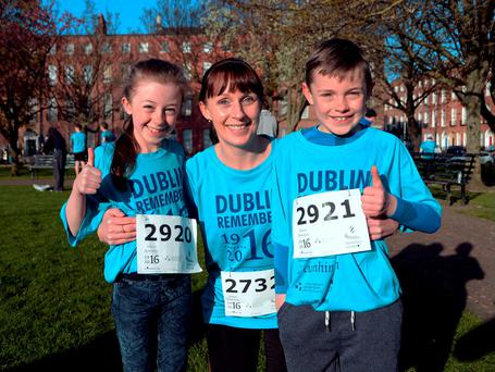 Sandra O'Reilly, with son Adam (8) and daughter Rebecca (11). Photo: Caroline Quinn