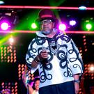 Congolese music star Papa Wemba has died after collapsing during a set at the Urban Musical Festival Anoumabo (FEMUA) in Abidjan. Photo: AFP PHOTO / STRSTR/AFP/Getty Images